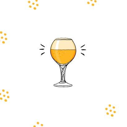 Felicitatiekaart hip met bier en confetti 2