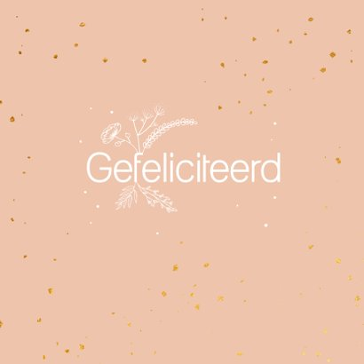 Felicitatiekaart - Hoera - flowers 2