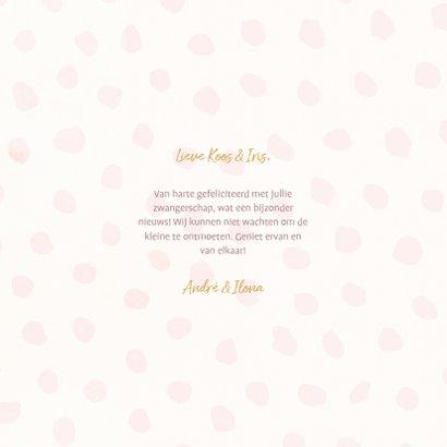 Felicitatiekaart 'hoera zwanger' met ballonnen en confetti 3