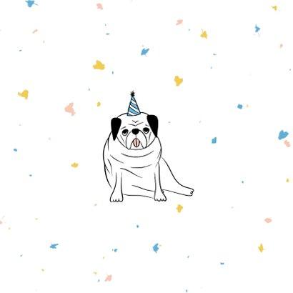 Felicitatiekaart humor ouwe dibbes met confetti 2