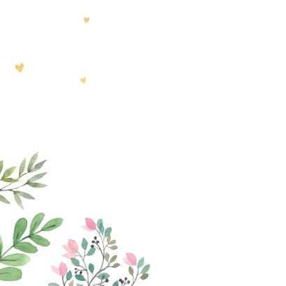 Felicitatiekaart huwelijk botanisch 2