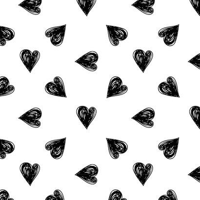 Felicitatiekaart huwelijk hartjes zwart waterverf 2