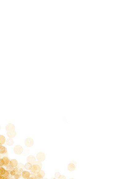 Felicitatiekaart huwelijk mr and mrs goud confetti stijlvol 2