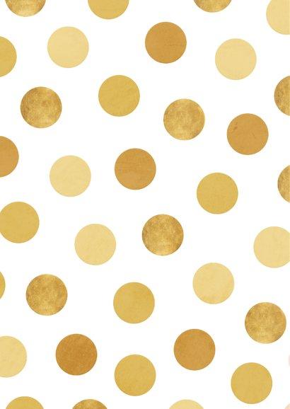 Felicitatiekaart jubileum fotocollage '50' met confetti 2