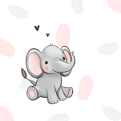 Felicitatiekaart kleindochter echo olifant hartjes 2