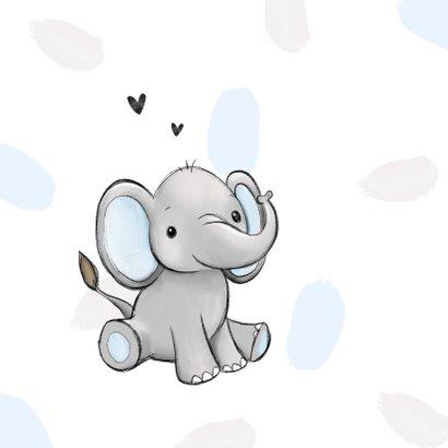 Felicitatiekaart kleinzoon opa en oma olifant hartjes  2