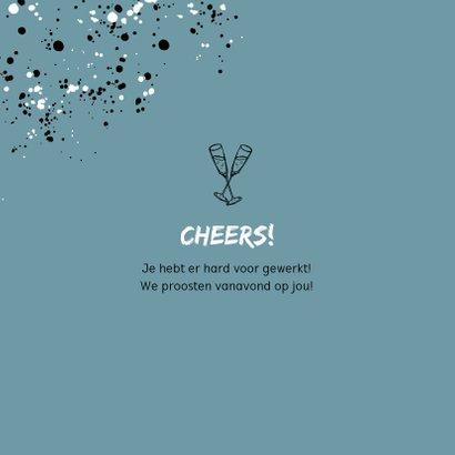 Felicitatiekaart man pensioen spetters feestelijk champagne 2