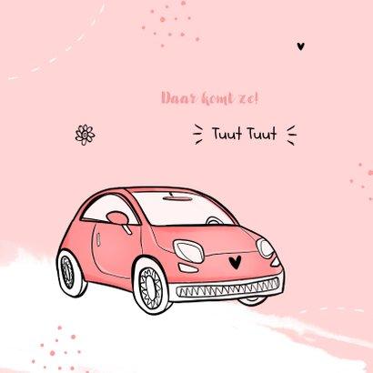 Felicitatiekaart meisje auto verjaardag rijbewijs 2