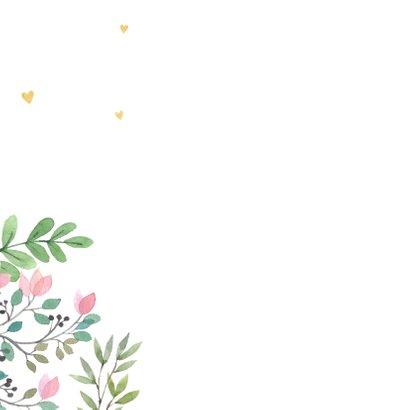 Felicitatiekaart meisje botanisch 2