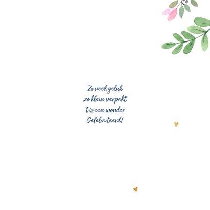 Felicitatiekaart meisje botanisch 3