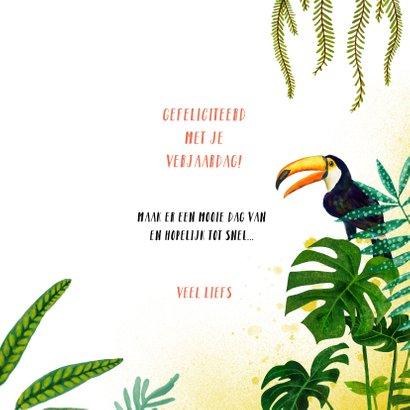Felicitatiekaart meisje met tropische zonnebril 3