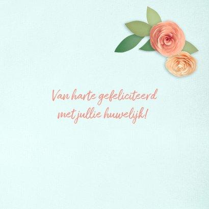 Felicitatiekaart met een hart van bloemen 3