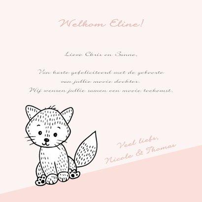 Felicitatiekaart met een lief vosje in de bergen 3