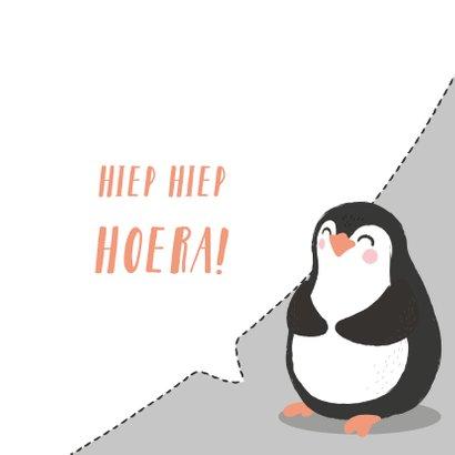 Felicitatiekaart met getekende pinguïn. 3