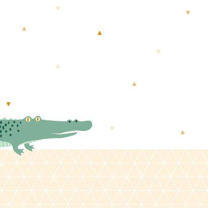 Felicitatiekaart met lieve krokodil 2