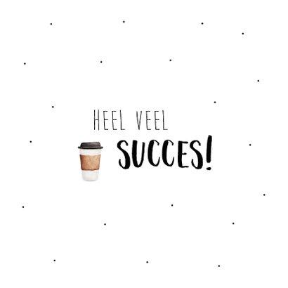Felicitatiekaart met nieuwe baan! met veel kopjes koffie 2
