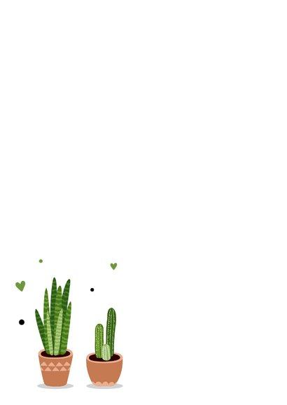 Felicitatiekaart met planten 2