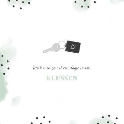 Felicitatiekaart new home sleutel met label 2