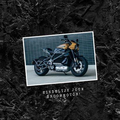 Felicitatiekaart nieuwe motor rijbewijs verjaardag stoer 2