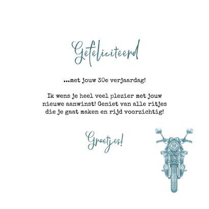 Felicitatiekaart nieuwe motor rijbewijs verjaardag stoer 3