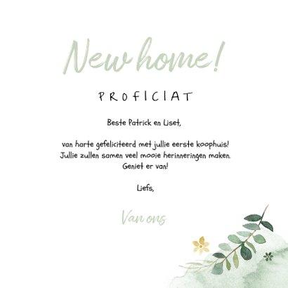 Felicitatiekaart nieuwe woning botanisch planten 3