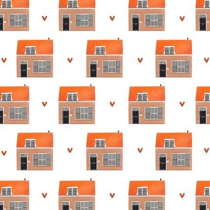 Felicitatiekaart nieuwe woning huisjes illustratie patroon 2