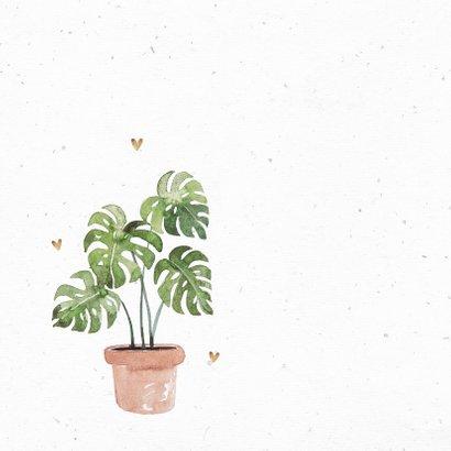 Felicitatiekaart nieuwe woning plant botanisch hartjes 2
