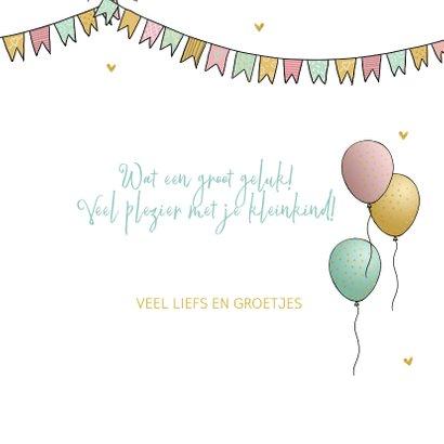 Felicitatiekaart oma met kleinkind ballonnen 3