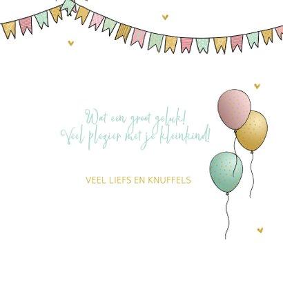 Felicitatiekaart opa met kleinkind met ballonnen 3