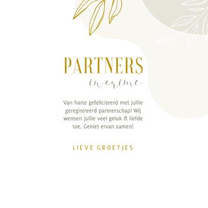 Felicitatiekaart partners in crime abstract met lijntekening 3