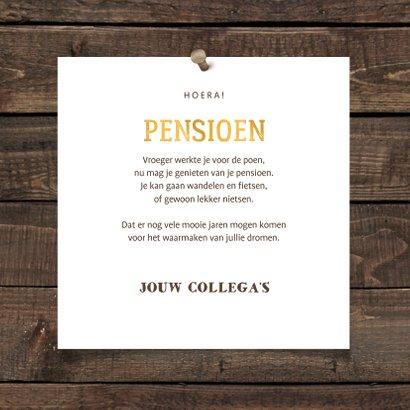 Felicitatiekaart pensioen bierglas met foto en leeftijd 3