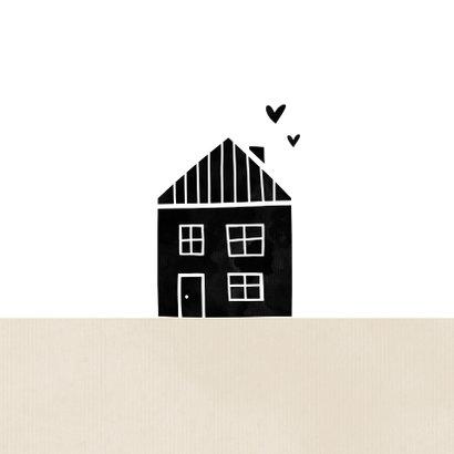 Felicitatiekaart samenwonen kraft huisje met hartjes 2