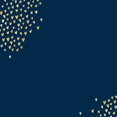 Felicitatiekaart stijlvol goud jubileum proficiat hartjes 2