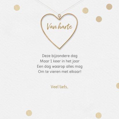 Felicitatiekaart stijlvol hart huwelijksjubileum liefde 3