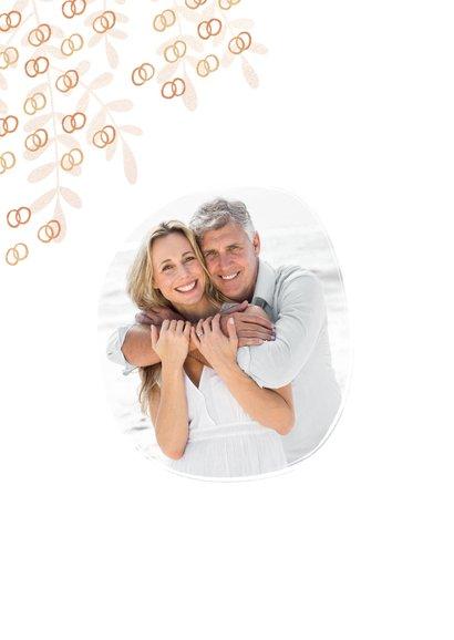 Felicitatiekaart trouwdag 25 jaar getrouwd ringen goud 2