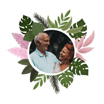 Felicitatiekaart trouwjubileum met plantjes  2