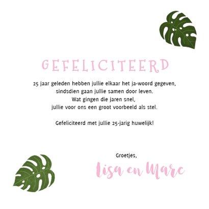 Felicitatiekaart trouwjubileum met plantjes  3