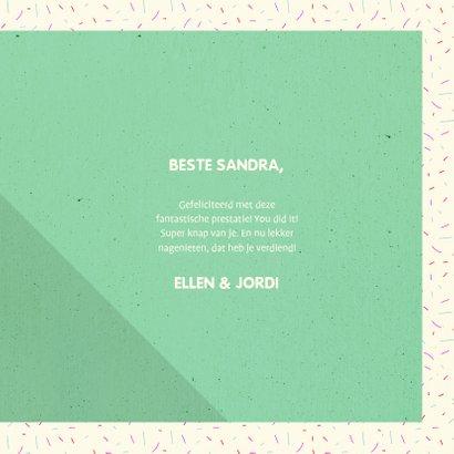 Felicitatiekaart typografisch 'YOU DID IT!' met confetti 3