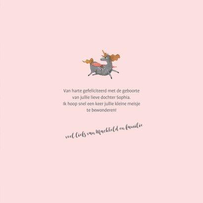 Felicitatiekaart Unicorn Meisje 3