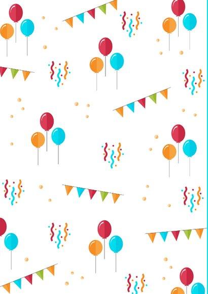 Felicitatiekaart verjaardag feestelijk kind ballonnen 2