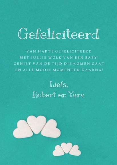Felicitatiekaart voor een wolk van een baby 3
