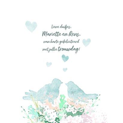 Felicitatiekaart voor trouwdag 3