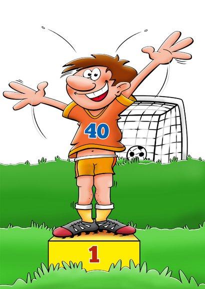 Felicitatiekaart voor voetballende man 3