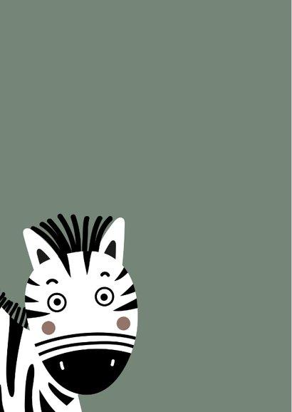 Felicitatiekaart zebra ballonnen 2