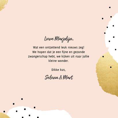 Felicitatiekaart 'Zwanger!' met stippen en hartjes 3