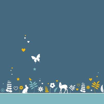 Felicitatiekaartje botanische cirkel met dieren 2