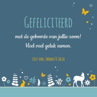 Felicitatiekaartje botanische cirkel met dieren 3