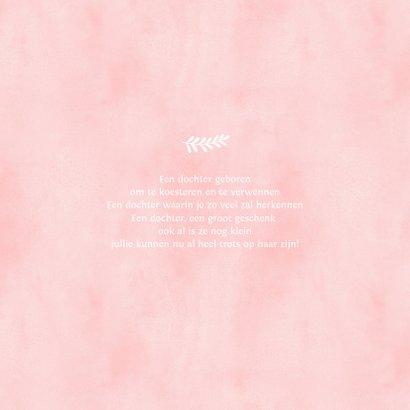Felicitatiekaartje geboorte meisje met roze babyvoetjes 2