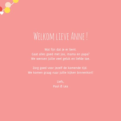 Felicitatiekaartje met lieve ooievaars in roze 3