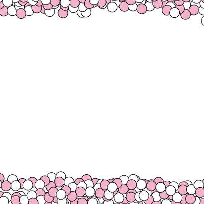 Felicitiekaart roze muisjes 3